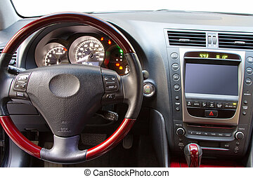 Interior details of a luxury car