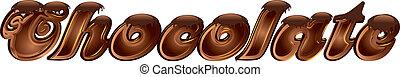 Chocolate word  - Chocolate word