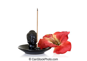 Burn incense still live - Burning incense for relaxation on...