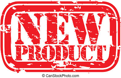 Grunge new product rubber stamp, vector illustration