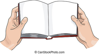 Hands Reading - Illustration Featuring a Person Reading a...