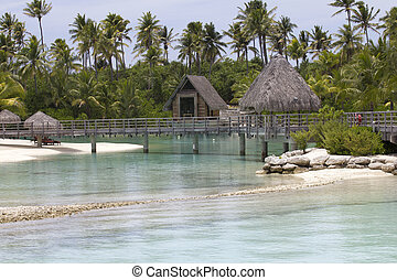 pier over the lagoon