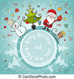 Vector Christmas card EPS 8 vector illustration for...