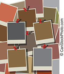 Instant photo background. Vector