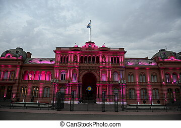 Buenos Aires in Argentina - Casa Rosada The Pink House in...