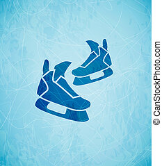 Vector skates background