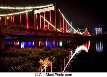 Red Bridge Night China