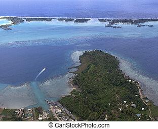 lagoon aerial view