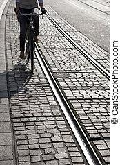 mulher, Ciclismo, fim, BONDE, pista, Suíça,...