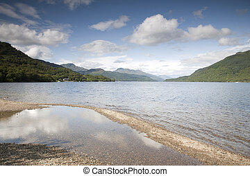 Reflection of Sky at Loch Lomond; Scotland; UK