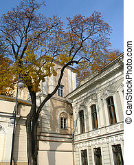 Classicism and autumn - Classicism style palace and autumn...