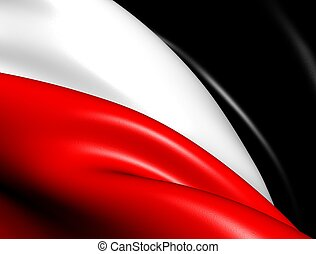 Flag of German Empire. Close Up.