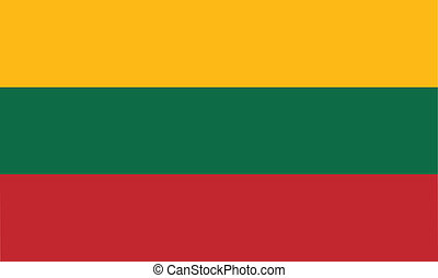 Flag of Lithuania vector illustration