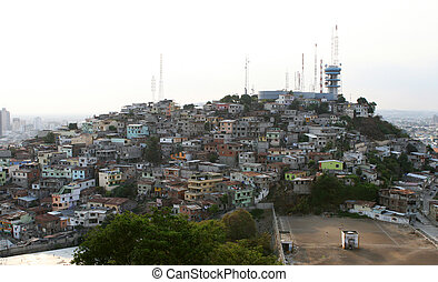 Hilltop Guayaquil, Ecuador - One of the hills covered in...