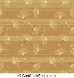 Soft dandelion seed pattern.