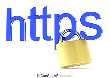 https icon isolated on white background. 3d rendered image