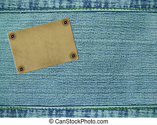 Background - a material of jeans of blue color