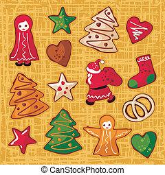 Christmas Gingerbread Cookies Set