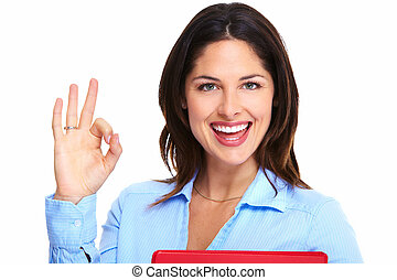 Happy successful business woman. - Happy young business...