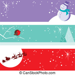 Christmas Banners - Fun festive headers inlude snoman,...