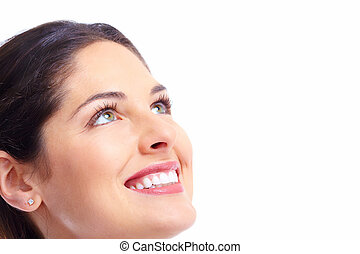 Beautiful woman face - Beautiful young woman face Dental...
