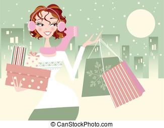 Pretty Woman Christmas Shopping