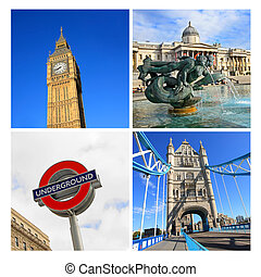 London famouse places, collage