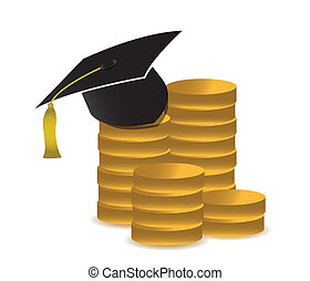 cost of education concept illustration design over white