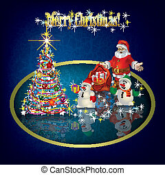 Christmas grunge background with decorations - Christmas...