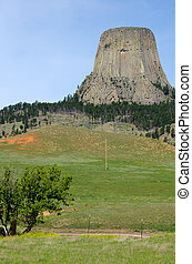 Devils Tower National Monument, Wyoming, USA - Devil's Tower...