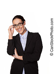 Smiling businesswoman or entrepeneur - Smiling successful...