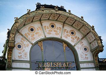 Otto Wagner Pavilion, Karlsplatz in Vienna, Austria
