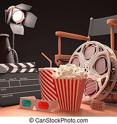 Movie Art - Objects of the film industry, the concept of...