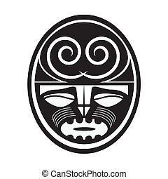 Illustration of Maori style symbol
