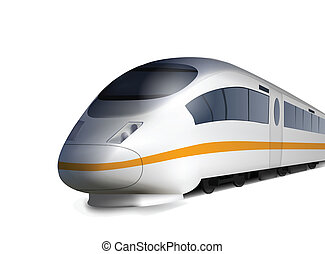 High Speed Train Isolated on white