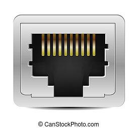 Ethernet Jack Icon