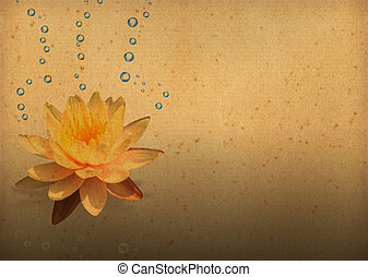 vintage paper textures with Lotus Flowers