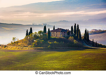 Tuscany at early morning, Italy