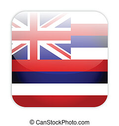 Hawaii flag button