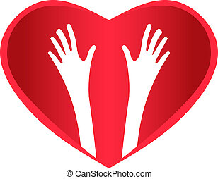 Helping Hands Heart - Two Helping Hands inside Heart