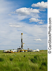 Driling for Oil - Drilling for oil and natural gas on the...