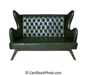 luxury sofa leather isolated white