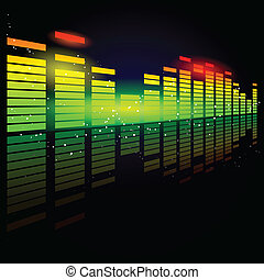 Digital equalizer - Vector illustration of a digital...