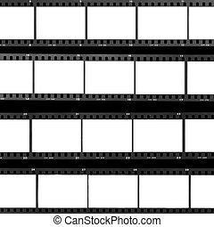 contact sheet blank film frames - Blank film frames...