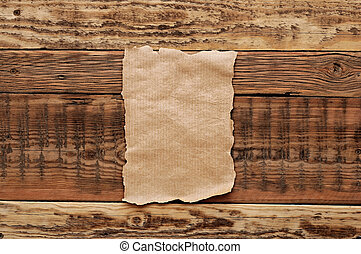 old papers on wood textures background