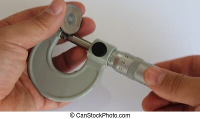Tool micrometer, measure the thickness