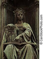 Corpus Juris Statue - Statue of Justice in Prague city...
