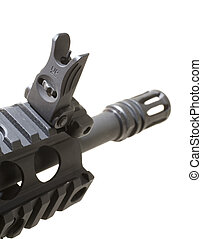 Folding sight - Front iron sight on an Ar-15 that folds down...