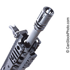 Flash hider - Device often found on the front end of an...