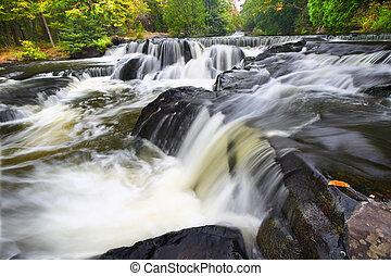 Bond Falls Northwoods Michigan - Beautiful Bond Falls flows...